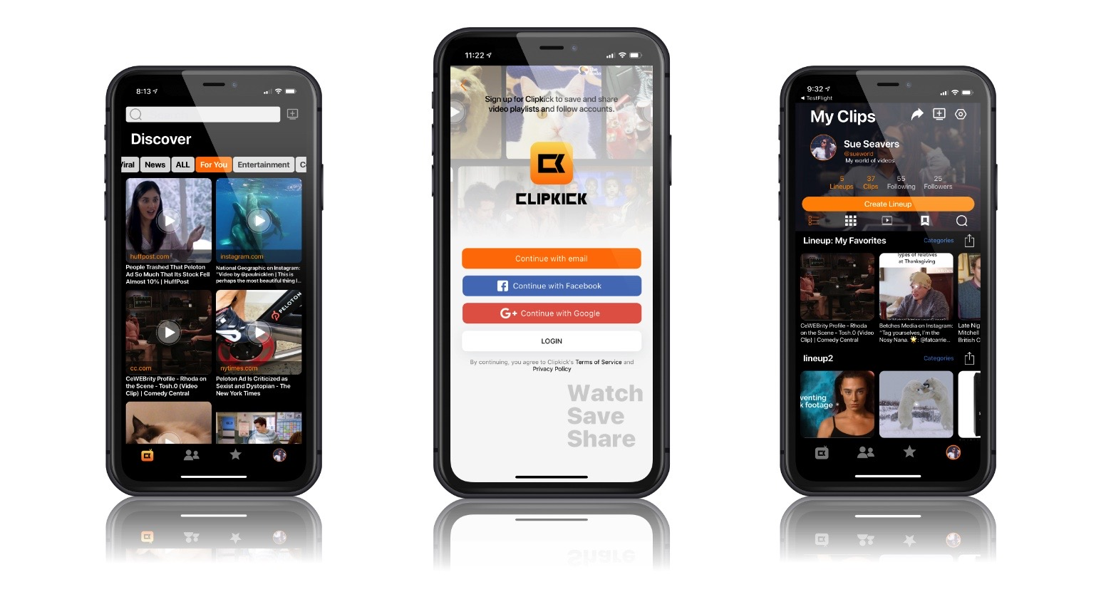 How to make a video playlist on your phone with CLIPKICK